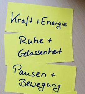 Kraft und Energie, Ruhe und Gelassenheit, Pausen und Bewegung - Gesundheitscoaching bei Kostadinowa Consulting in Berlin